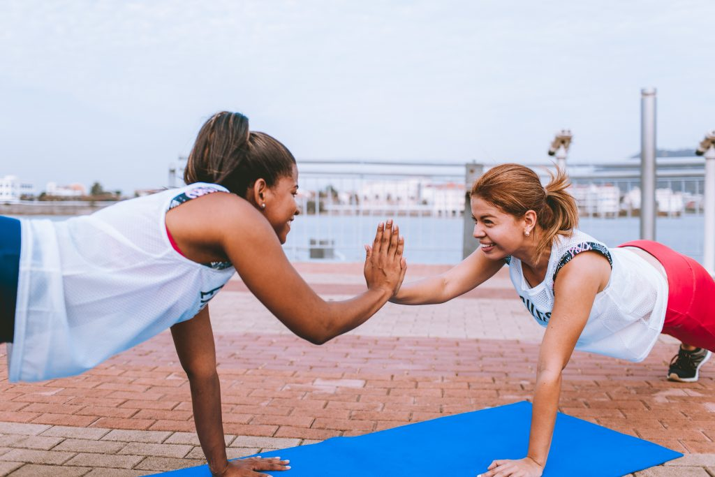 Having someone to exercise with you can help keep you motivated to continue to stick to your plan.