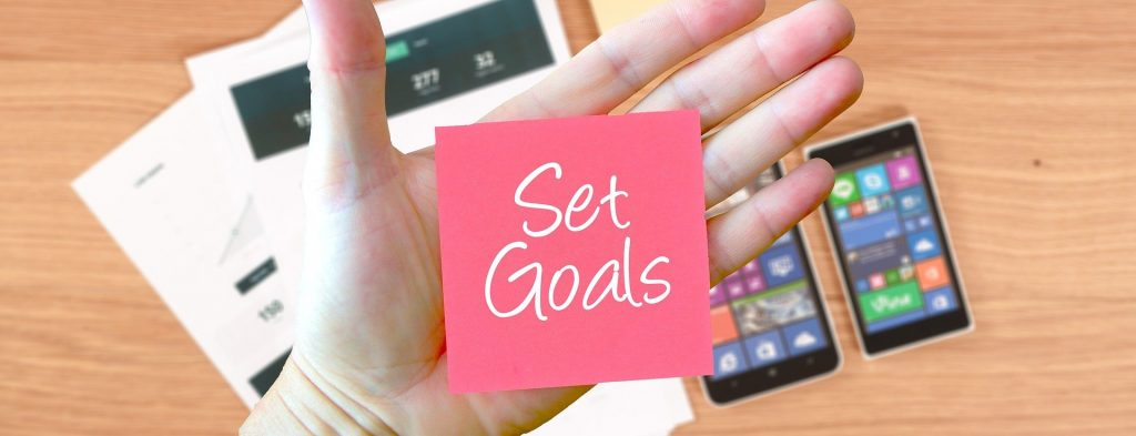 Set weekly goals to keep you on track.